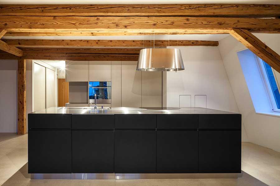 Küche Umbau und Sanierung ehemaliges Bauernhaus Maison Blanche Evilard