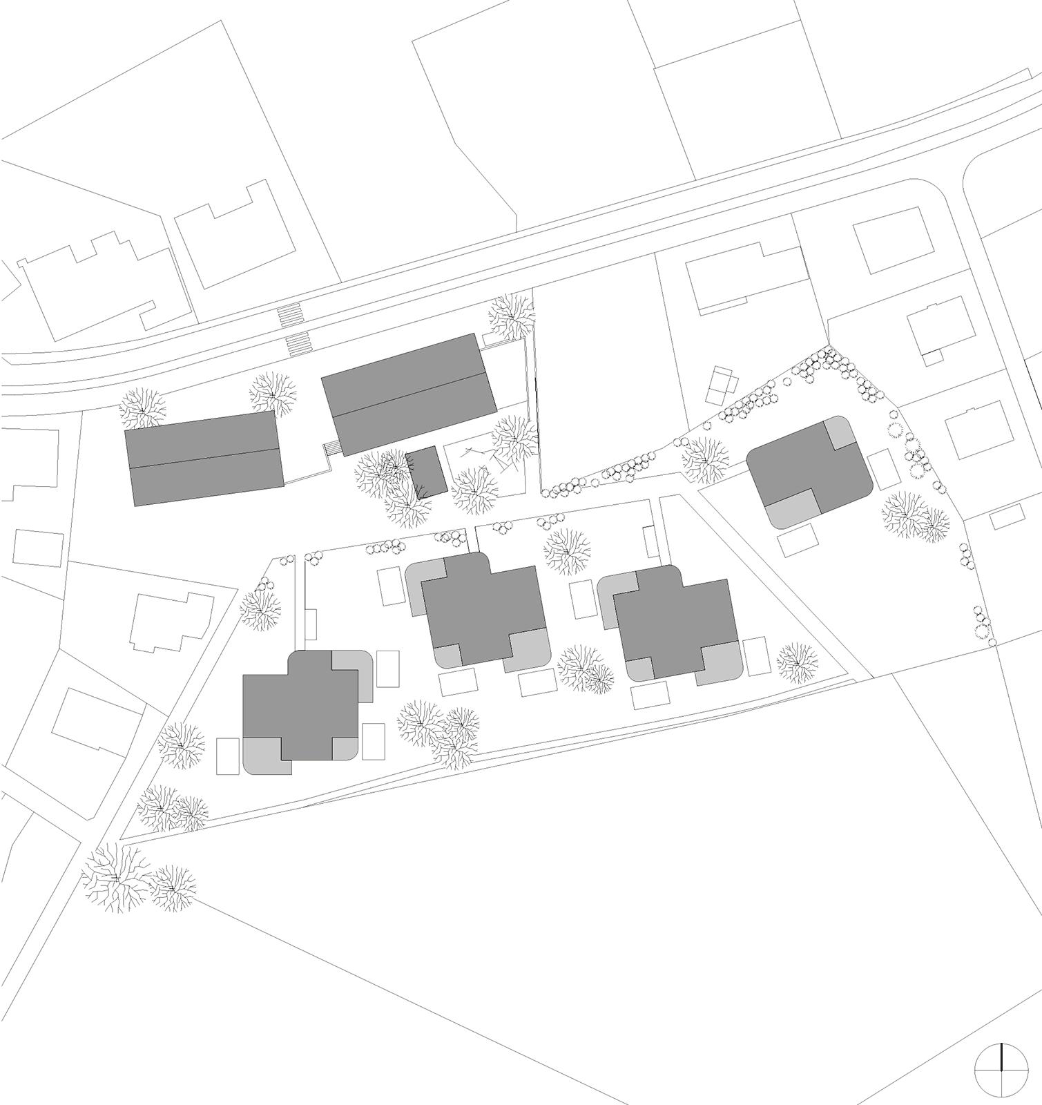 Situationsplan Neubau Wohnüberbauung Dorfzentrum Orpund Gottstatt