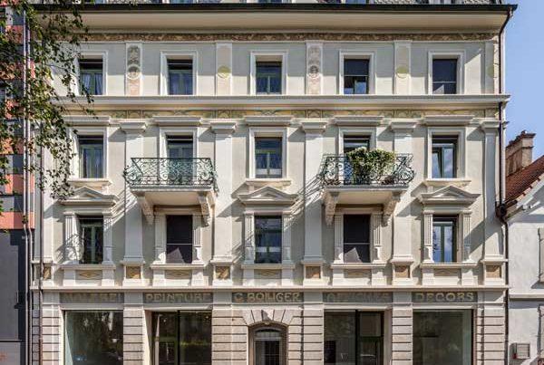 Fassadensanierung Unterer Quai 90, Biel