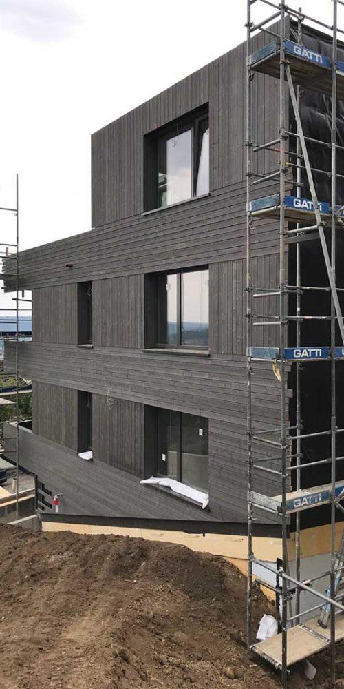 Fertigmontierte Holzfassade Im Eichhölzli