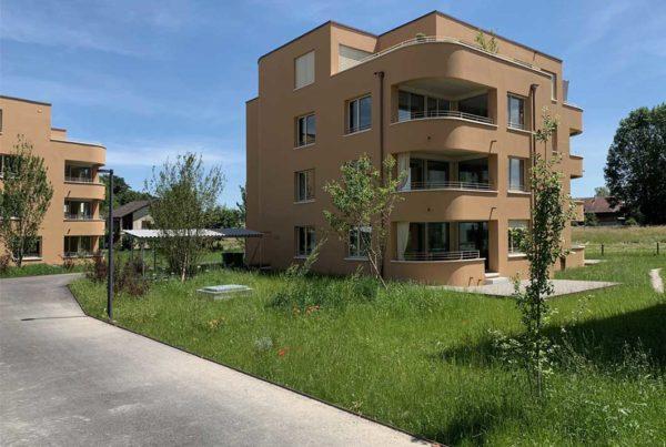 Begrünung Überbauung Dorfzentrum Orpund