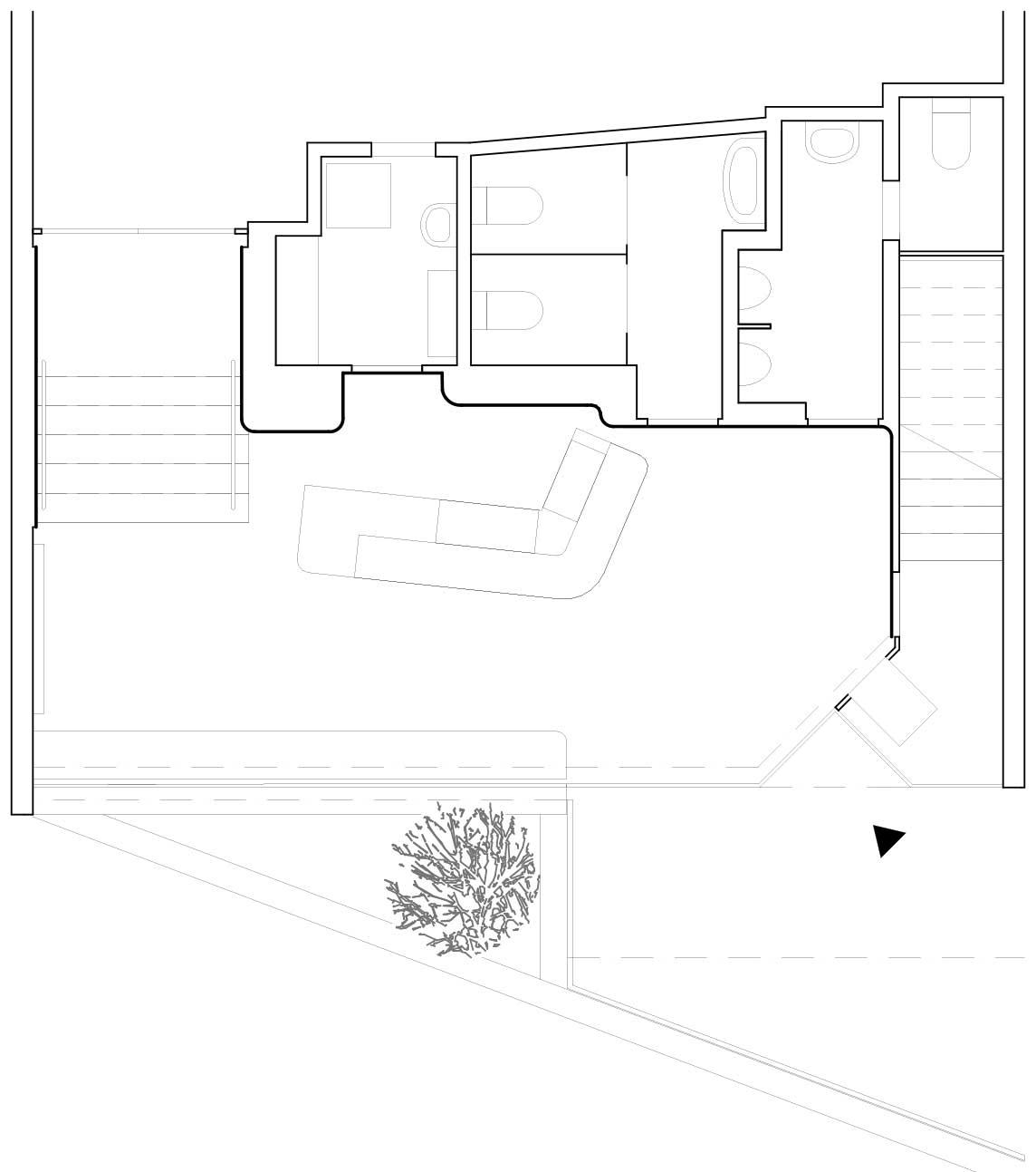 Grundriss Umbau und Sanierung Foyer Kino Camera Bern