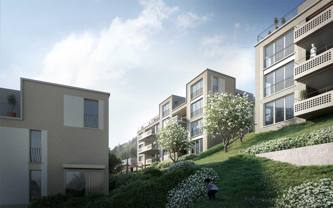 Visualisierung Wohnüberbauung Höheweg