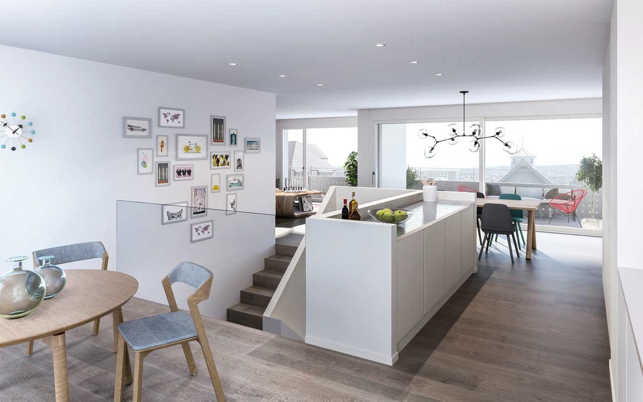Visualisierung Wohnung Wohnüberbauung Höheweg