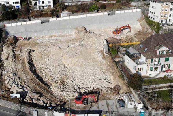 Aushubarbeiten Wohnüberbauung Höheweg, Biel