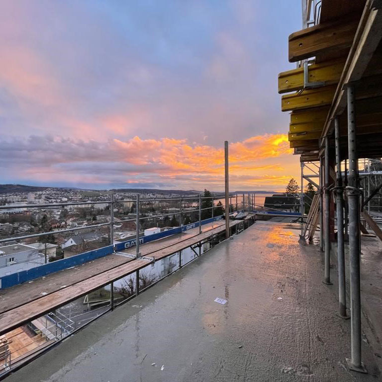 Baufortschritt Wohnüberbauung Höheweg, Biel